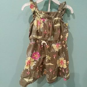 🌺🌺Carter's Olive green Hawaiian floraldress 🌺🌺